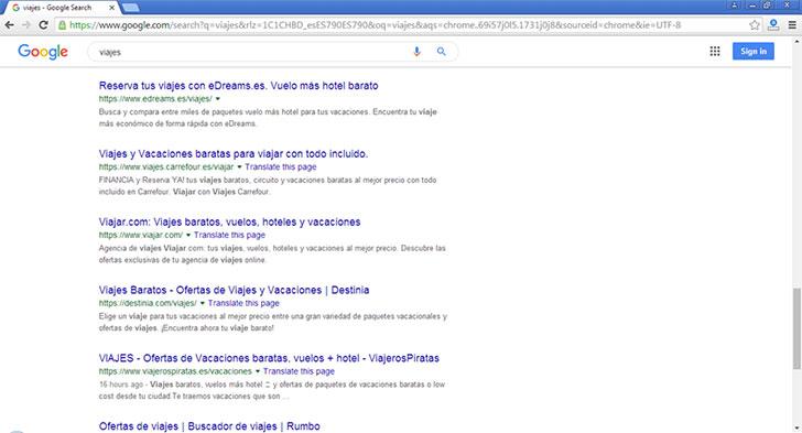 Pantalla Google SEO